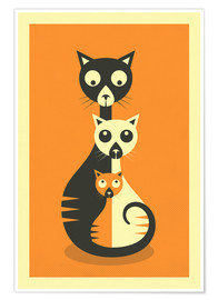 Poster  Trois chats - Jazzberry Blue