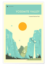 Poster  Yosemite Valley - Jazzberry Blue