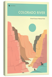 Tableau sur toile  Colorado River, Grand Canyon National Park - Jazzberry Blue