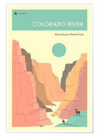 Poster  GRAND CANYON NATIONAL PARK POSTER - Jazzberry Blue