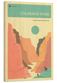Bois  GRAND CANYON NATIONAL PARK POSTER - Jazzberry Blue
