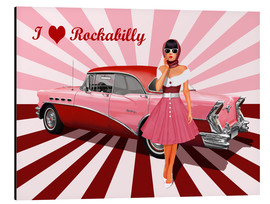 Alu-Dibond  I love Rockabilly - Monika Jüngling