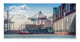 Poster  Fish market, port, container terminal - Ingo Boelter