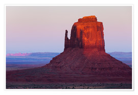 Poster  Monument Valley at sunset - Rainer Mirau