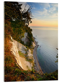 Tableau en verre acrylique  Chalk cliffs in the morning light - Andreas Vitting