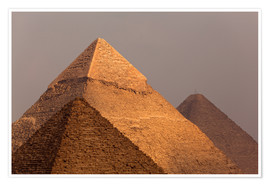Poster  Pyramides de Gizeh, Egypte - Catharina Lux