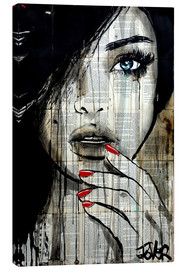 Toile  Les ongles rouges - Loui Jover