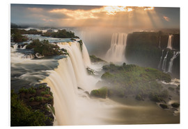 Forex  Iguazu falls waterfall at sunset. - Alex Saberi
