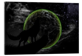 Verre acrylique  Werewolf and scary moon