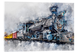 Verre acrylique  Steam locomotive Durango and Silverton Narrow Gauge Railroad - Colorado - USA - Peter Roder