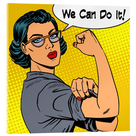 Verre acrylique  We can do it! popart