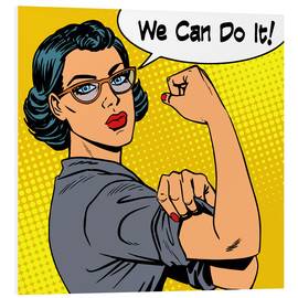 Tableau en PVC  We can do it, popart