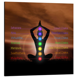 Alu-Dibond  Chakras before evening sky