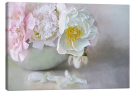 Tableau sur toile  Dreamy Peonies - Lizzy Pe