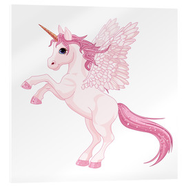 Verre acrylique  Ma licorne rose - Kidz Collection
