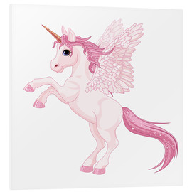 Tableau en PVC  Ma licorne rose - Kidz Collection
