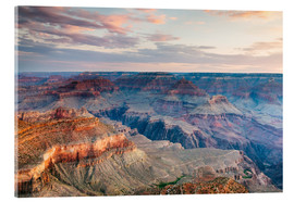 Tableau en verre acrylique  Sunset over the Grand Canyon south rim, USA - Matteo Colombo