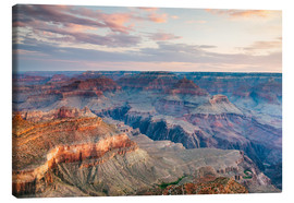 Tableau sur toile  Sunset over the Grand Canyon south rim, USA - Matteo Colombo