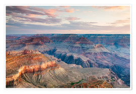 Poster  Sunset over the Grand Canyon south rim, USA - Matteo Colombo