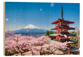 Bois  Chureito Pagoda and Mount Fuji in spring, Fujiyoshida, Japan - Jan Christopher Becke