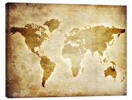 Toile  Vintage World Map