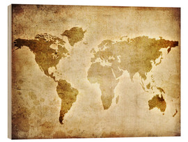 Bois  Vintage World Map
