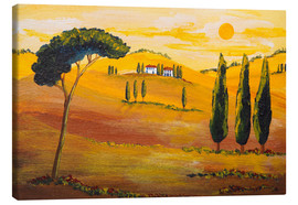 Tableau sur toile  Sunshine in Tuscany in the Morning - Christine Huwer