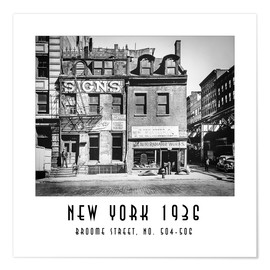 Poster Historic New York - Broome Street