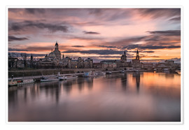 Poster  sunset Dresden - Achim Thomae