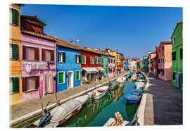 Verre acrylique  Fishing village of Burano - Achim Thomae