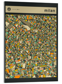 Verre acrylique  MILAN MAP - Jazzberry Blue