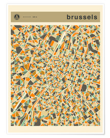 Poster BRUSSELS MAP