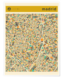 Poster  Carte de Madrid - Jazzberry Blue