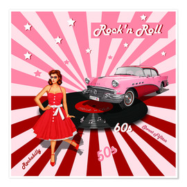 Poster  Rock'n Roll - Monika Jüngling