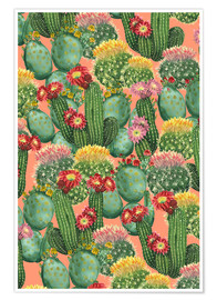 Poster  cactus meadow