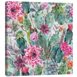 Toile  Cacti in water color