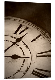 Verre acrylique  picture of an old vintage clock