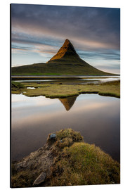 Tableau en aluminium  Peaceful Sunset Kirkjufell - Sander Grefte