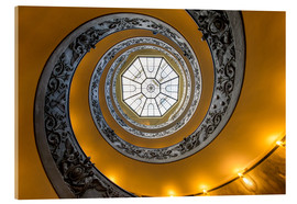 Tableau en verre acrylique  Spiral staircase in the Vatican Museum, Italy - Jan Christopher Becke