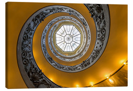 Tableau sur toile  Spiral staircase in the Vatican Museum, Italy - Jan Christopher Becke