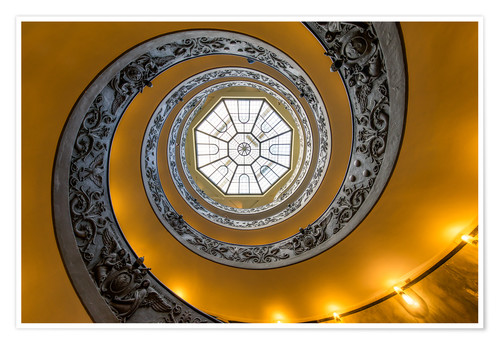 Poster Spiral staircase in the Vatican Museum, Italy