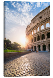 Tableau sur toile  The Colosseum in Rome at sunrise - Jan Christopher Becke