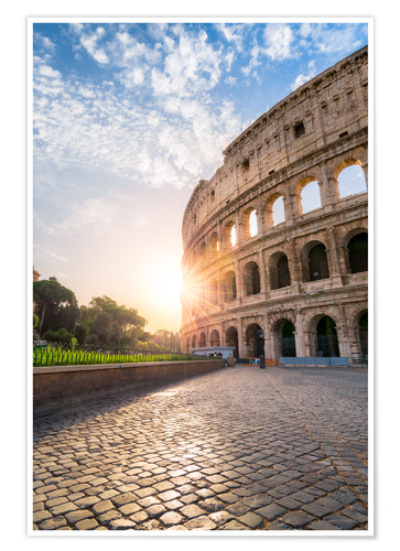 Poster The Colosseum in Rome at sunrise