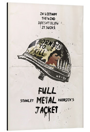 Tableau en aluminium  Full Metal Jacket (anglais) - 2ToastDesign