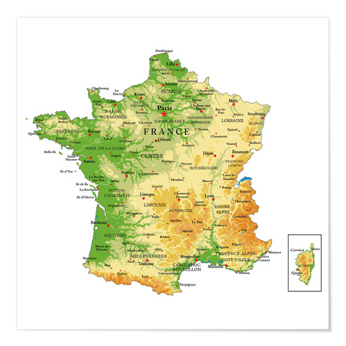 Poster Topography France