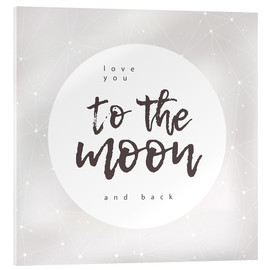 Verre acrylique  To the moon and back - Typobox