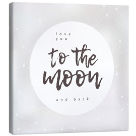 Toile  To the moon and back - Typobox
