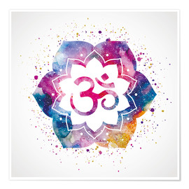 Namaste watercolor flower