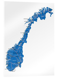 Verre acrylique  Map Norway