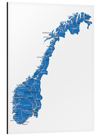 Alu-Dibond  Map Norway